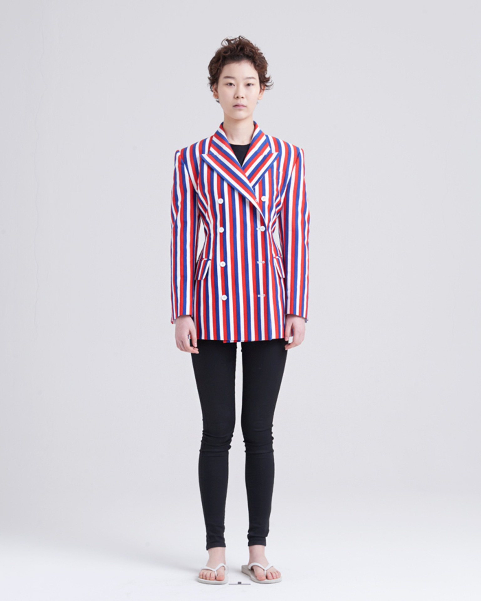 BACK POINT COLORFUL STRIPE JACKET