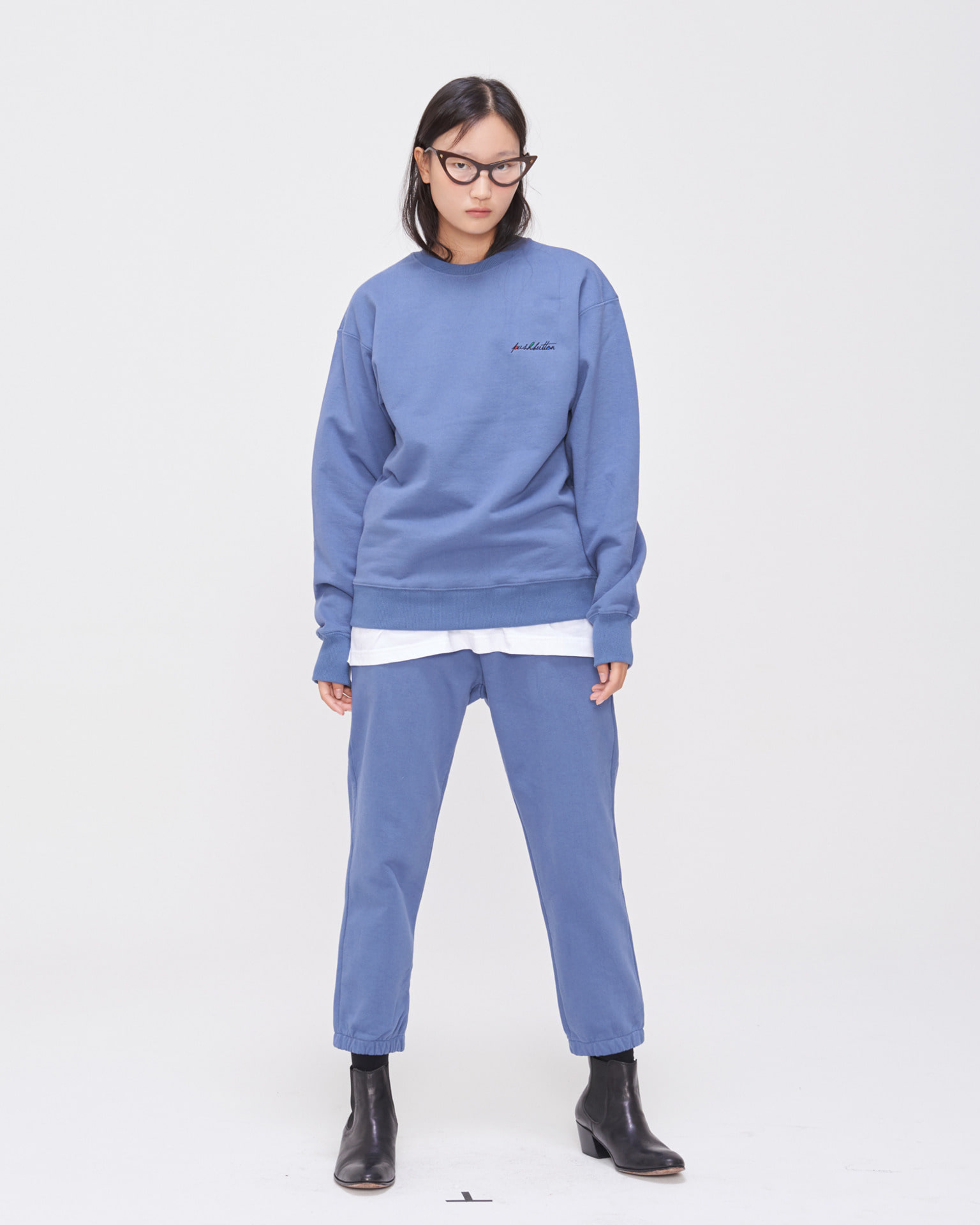 PUSHBUTTON NEEDLEPOINT SWEAT PANTS