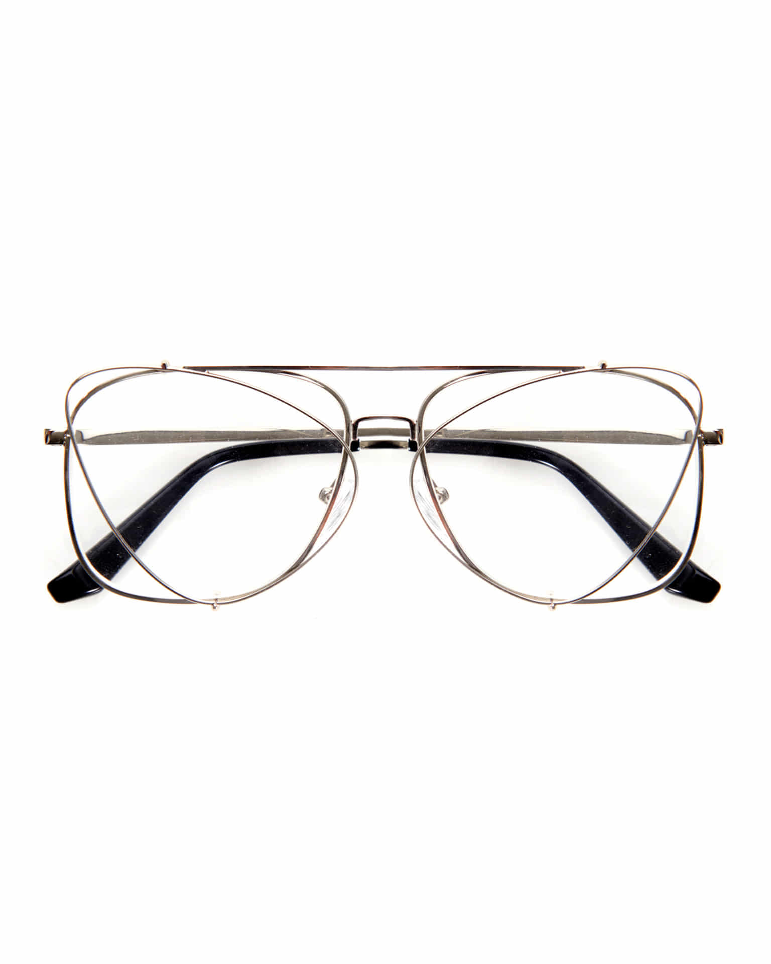 METAL CLIP-ON EYEGLASSES