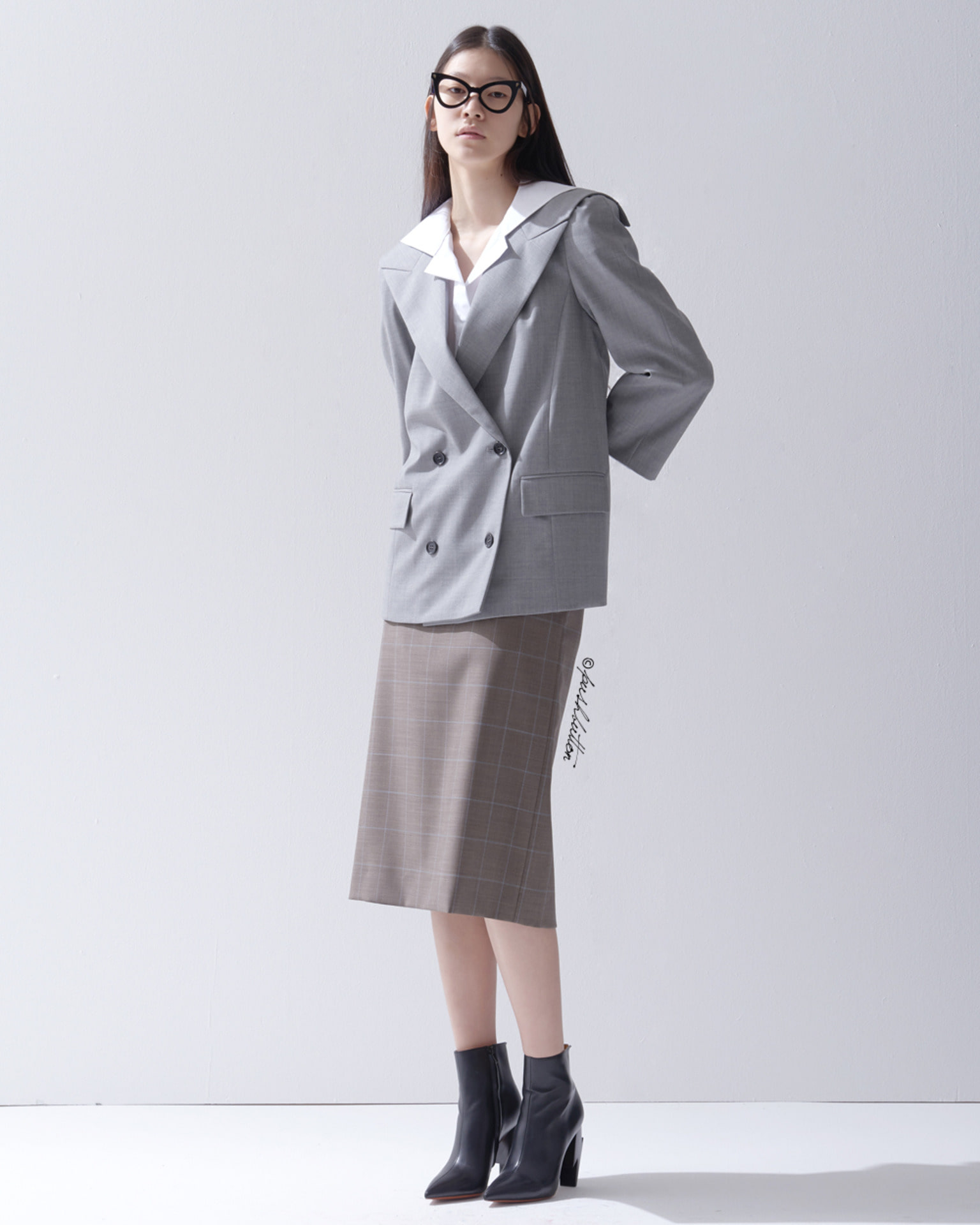 SAILOR COLLAR DOUBLE JACKET