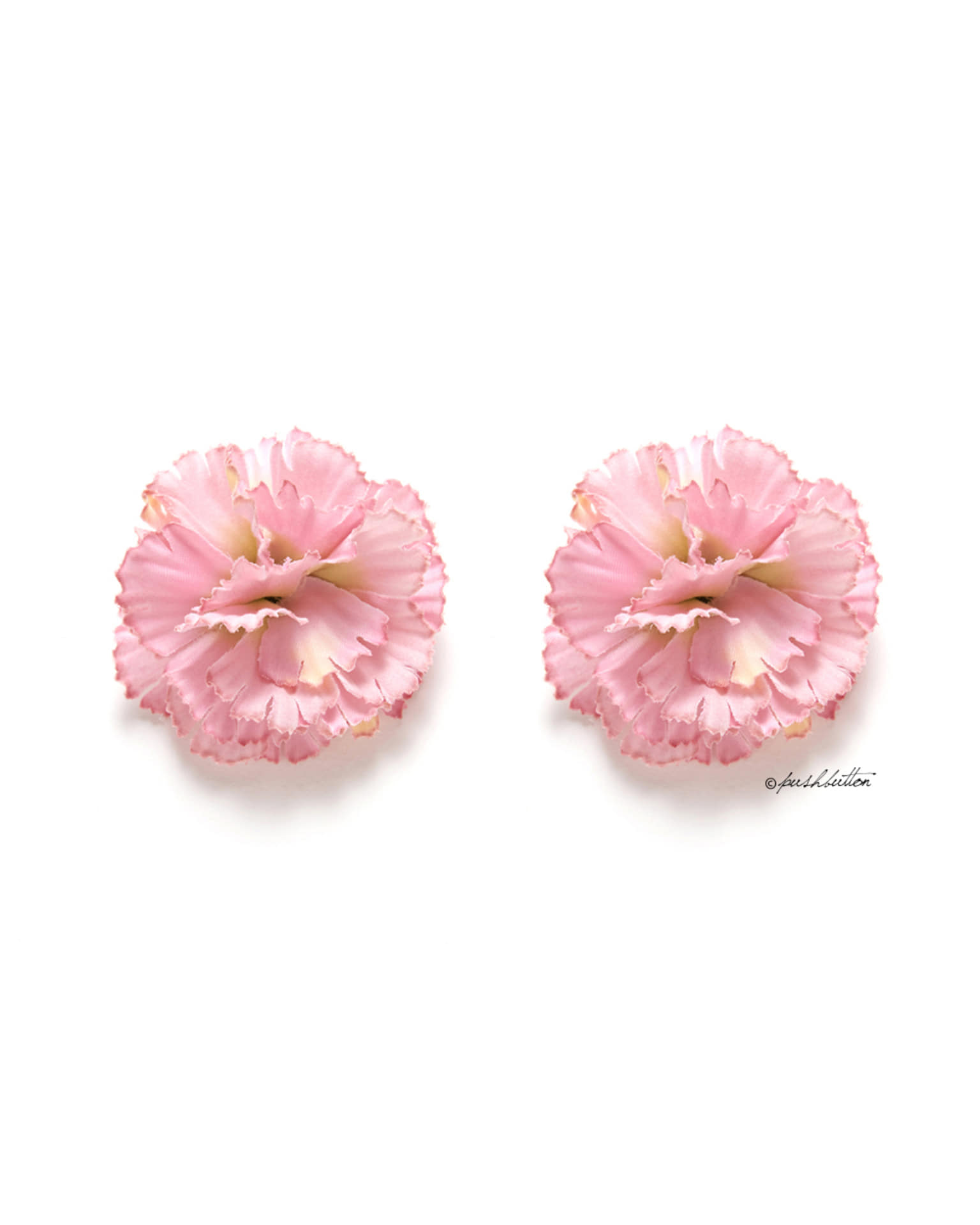 PINK CARNATION EARRING