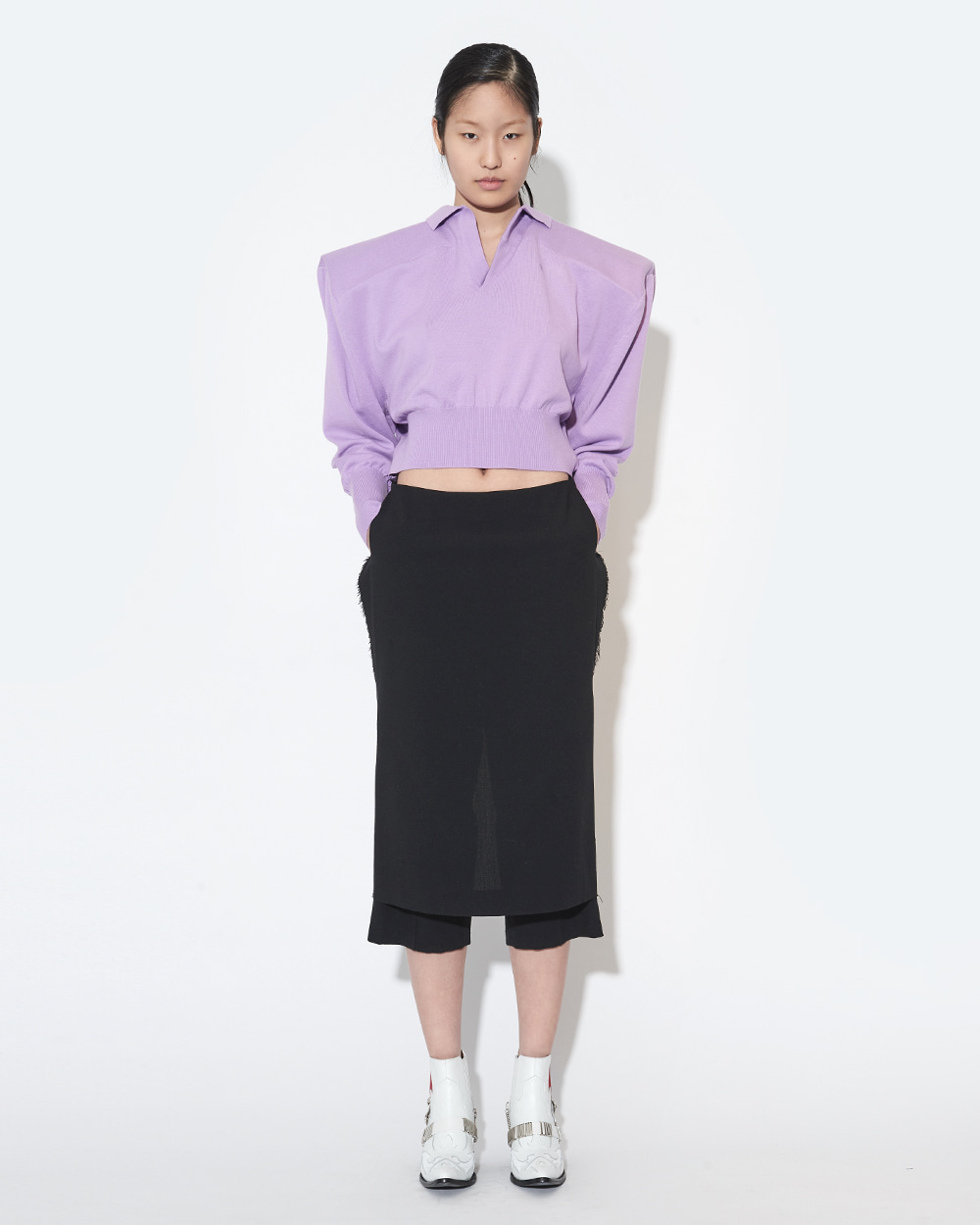 BOX SHOULDER MINIMAL KNIT