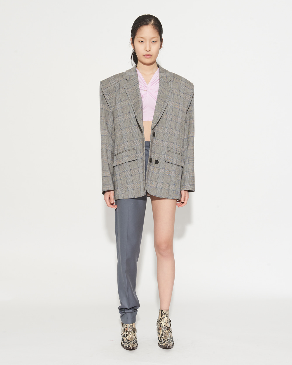 BOX SHOULDER CHECK JACKET