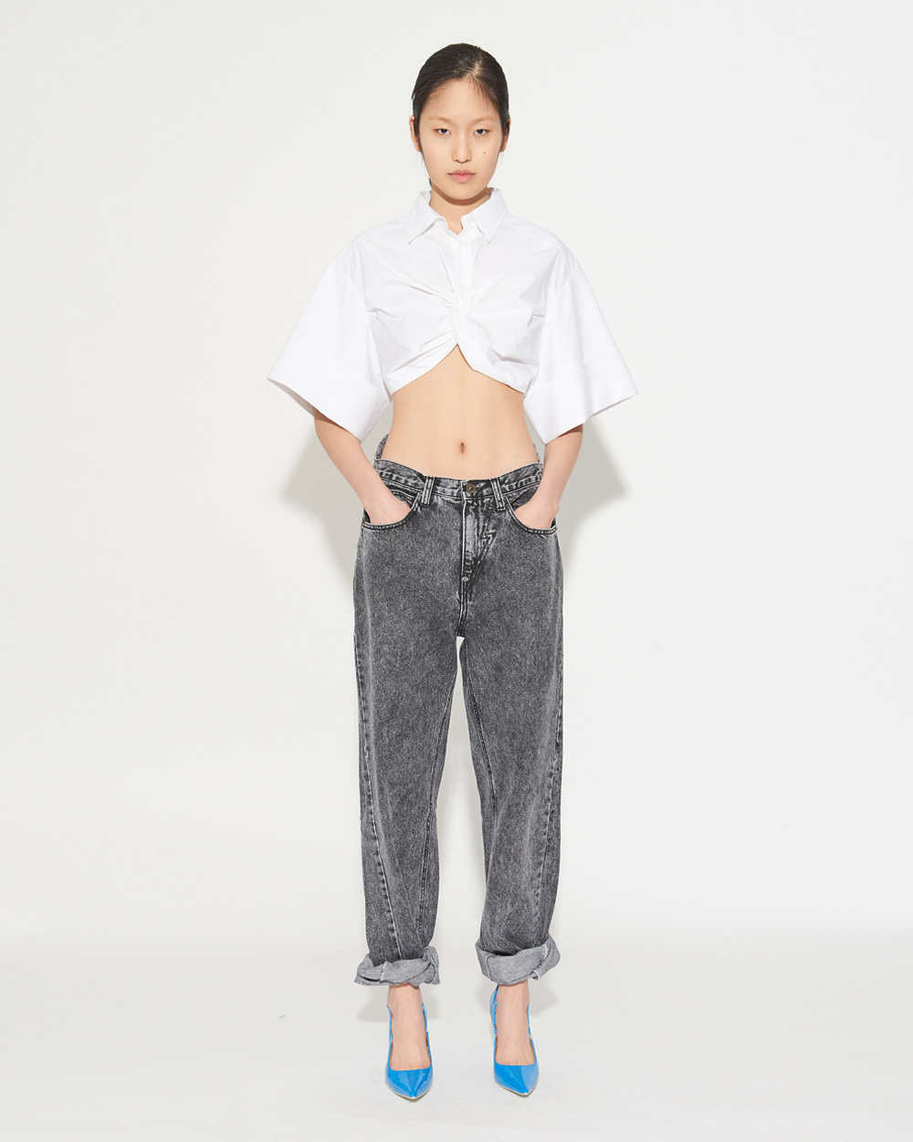 CROPPED TWIST SHIRT