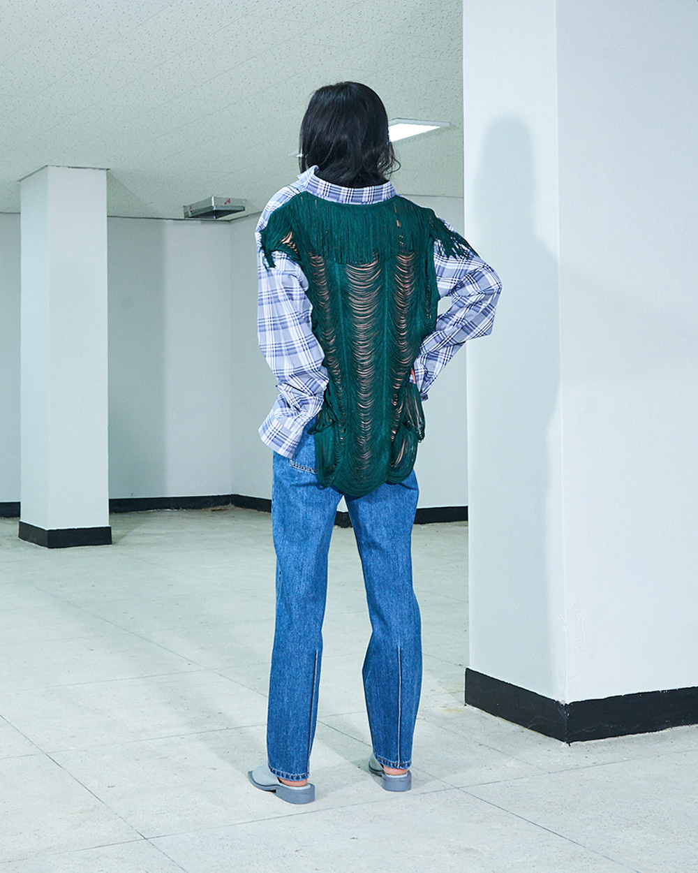 PF19 TASSELS-BACK SHIRT