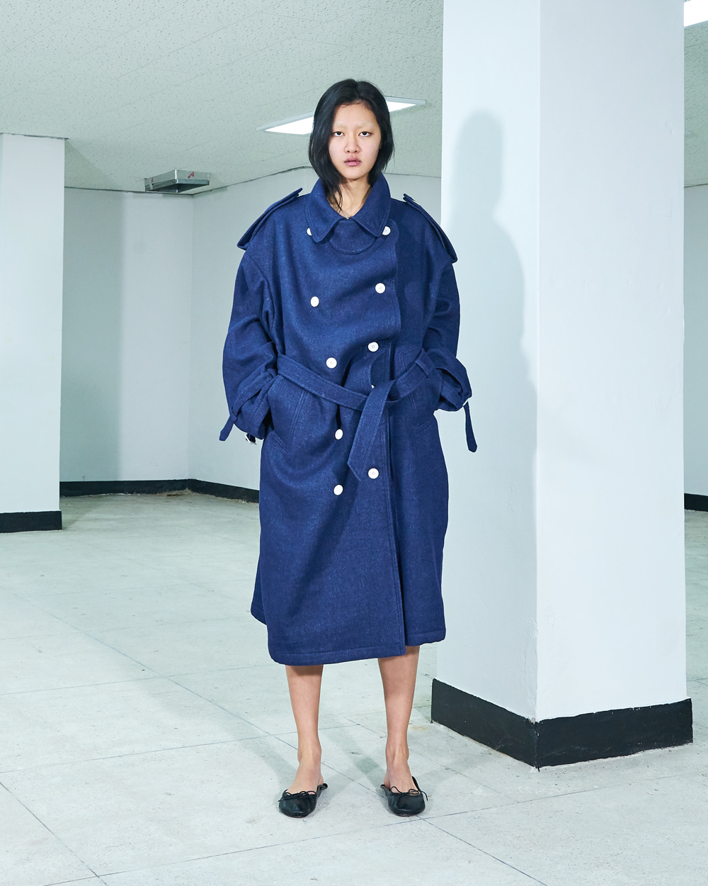 PF19 NAVY SWAY OVER COAT