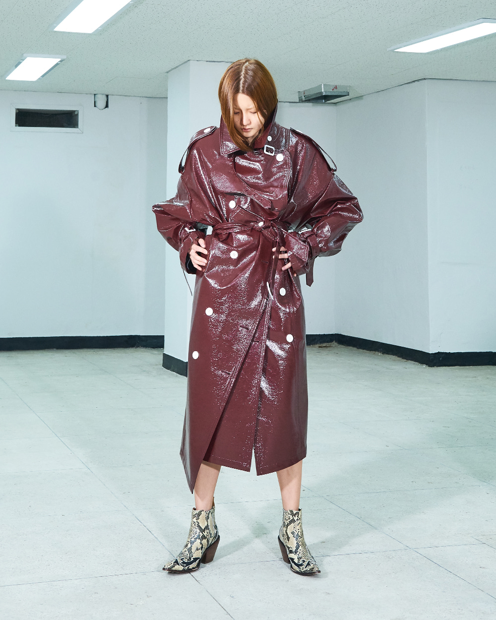 PF19 WINE SWAY OVER COAT