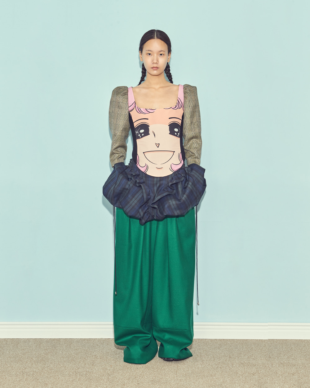 FW19 BACK-UP GAUCHO WOOL PANTS
