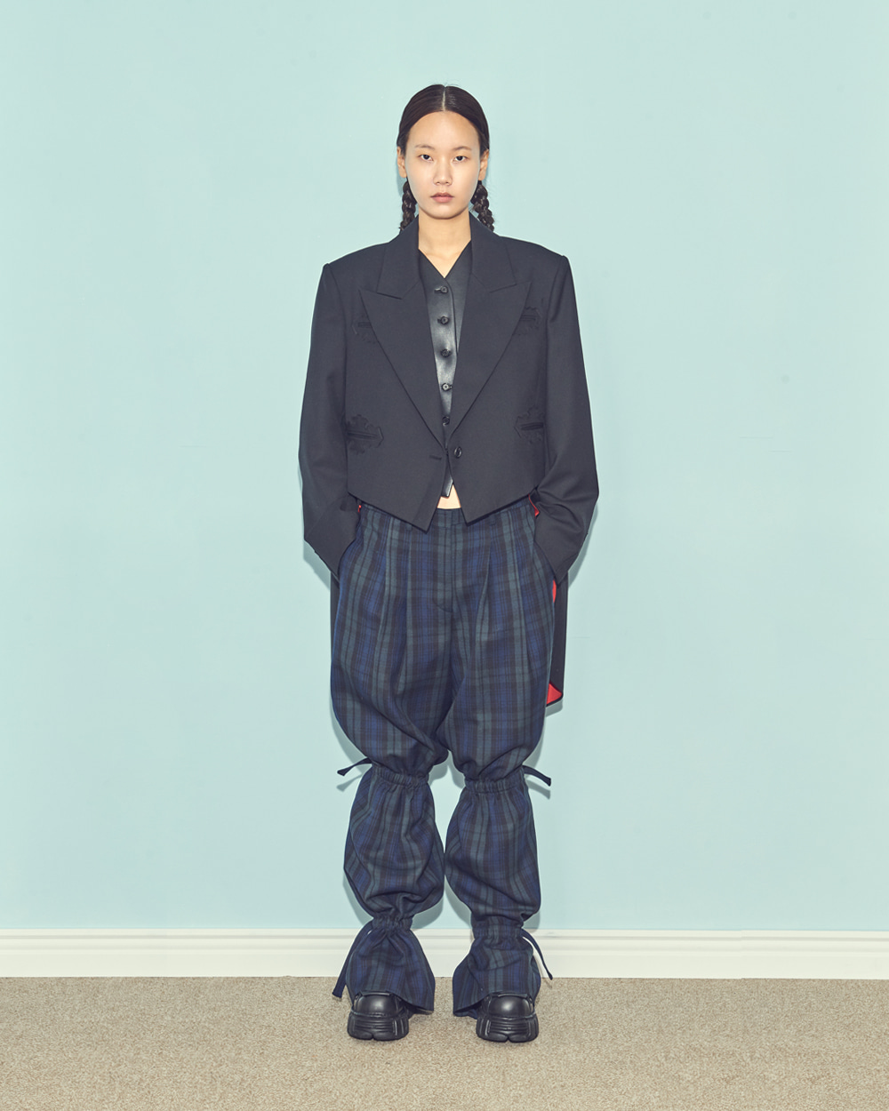 FW19 SAUSAGE LEGS CHECK PANTS