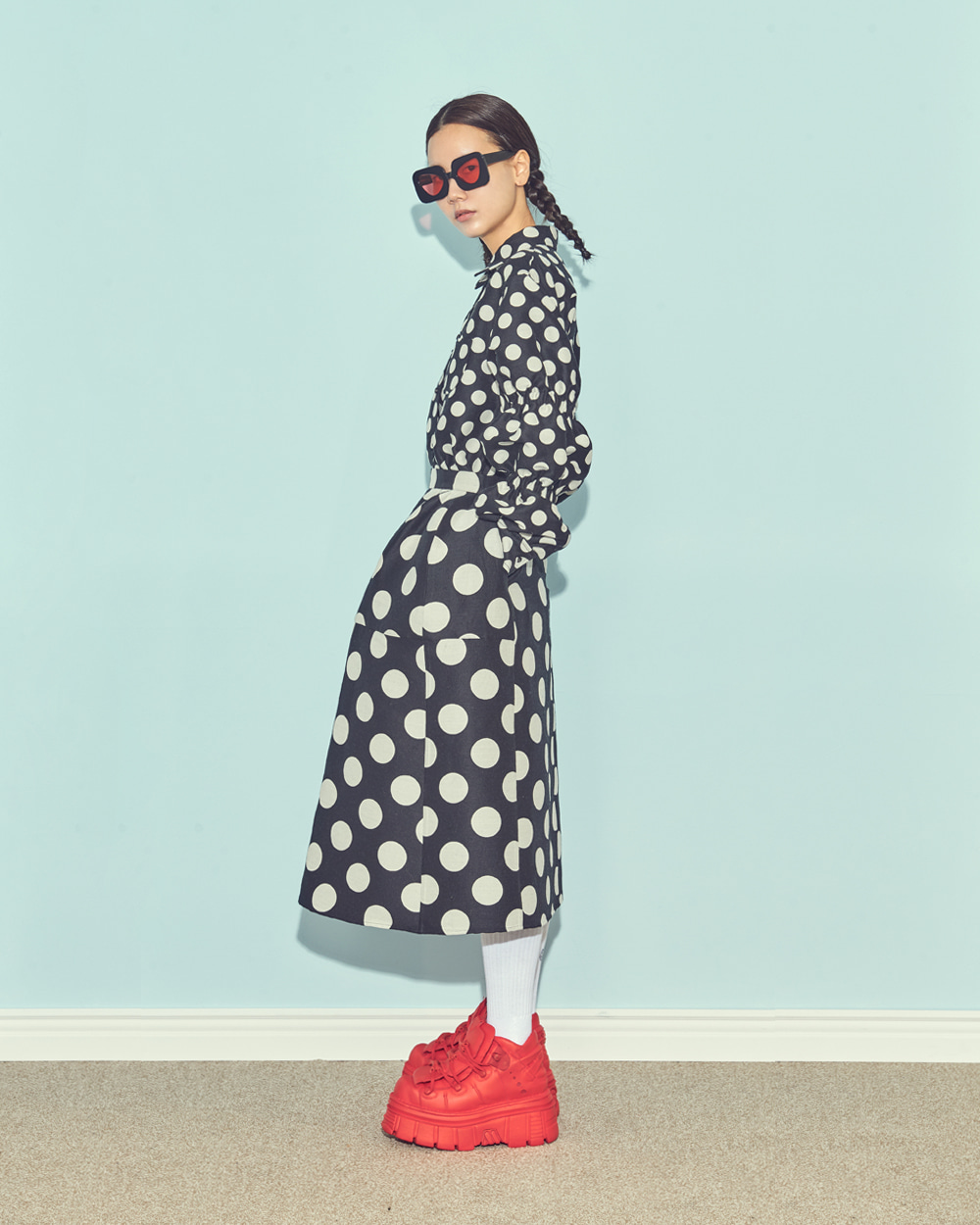FW19 POUF DOT SKIRT