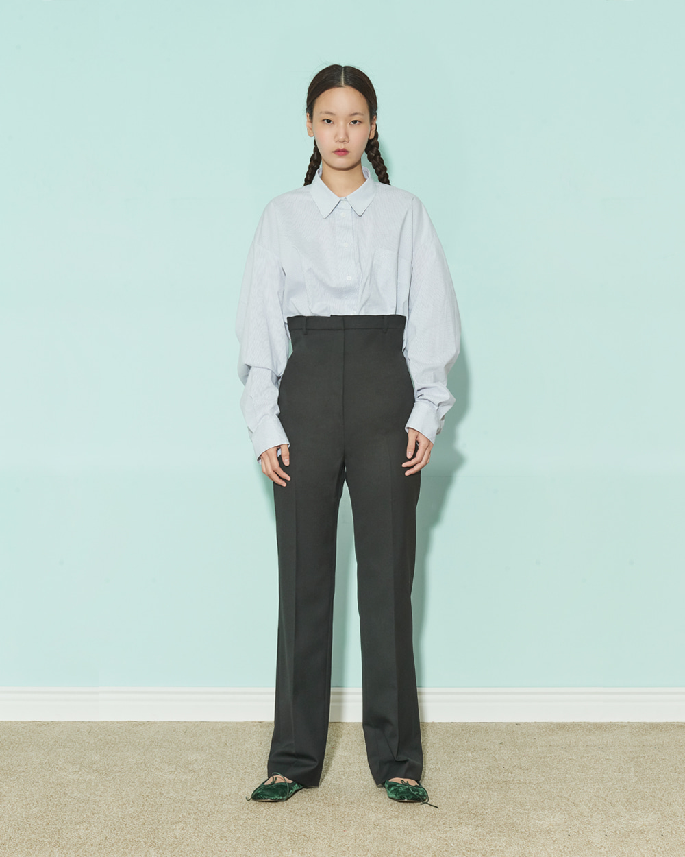 FRONT-UP STRAIGHT PANTS