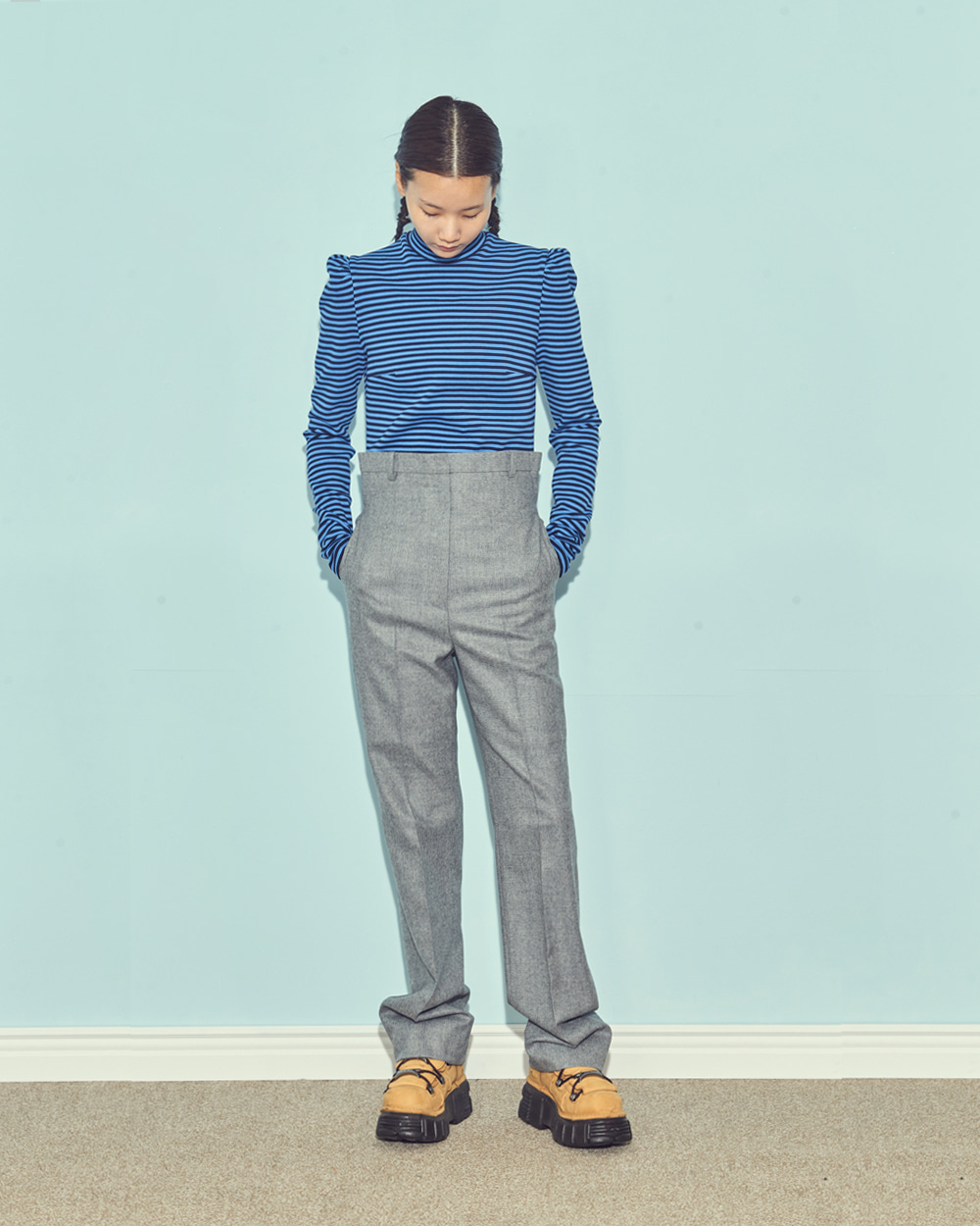 FW19 FRONT-UP STRAIGHT PANTS