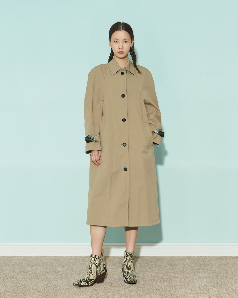 FW19 REVERSIBLE TRENCH COAT