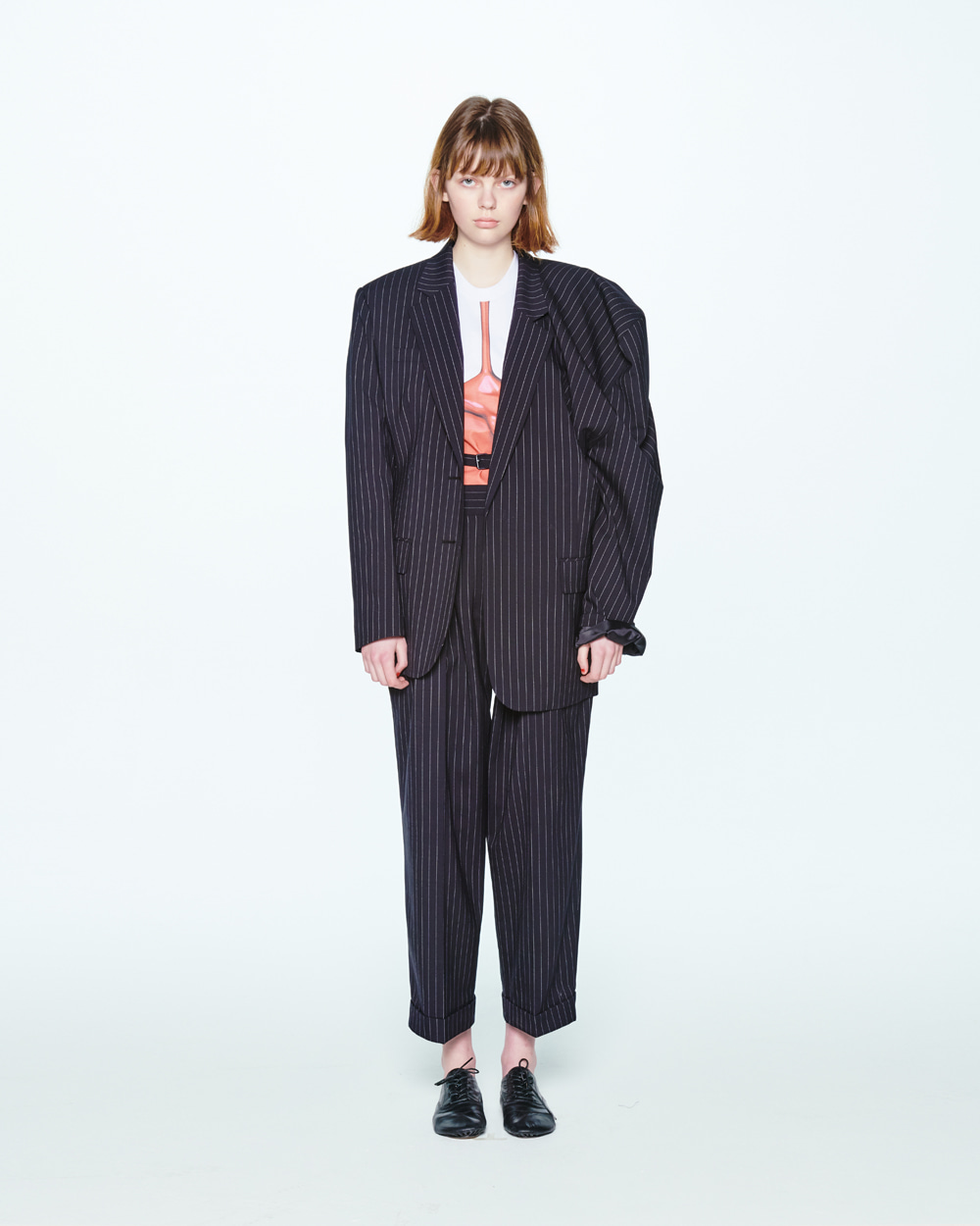 SS20 UNBALANCED SHOULDER STRIPE JACKET