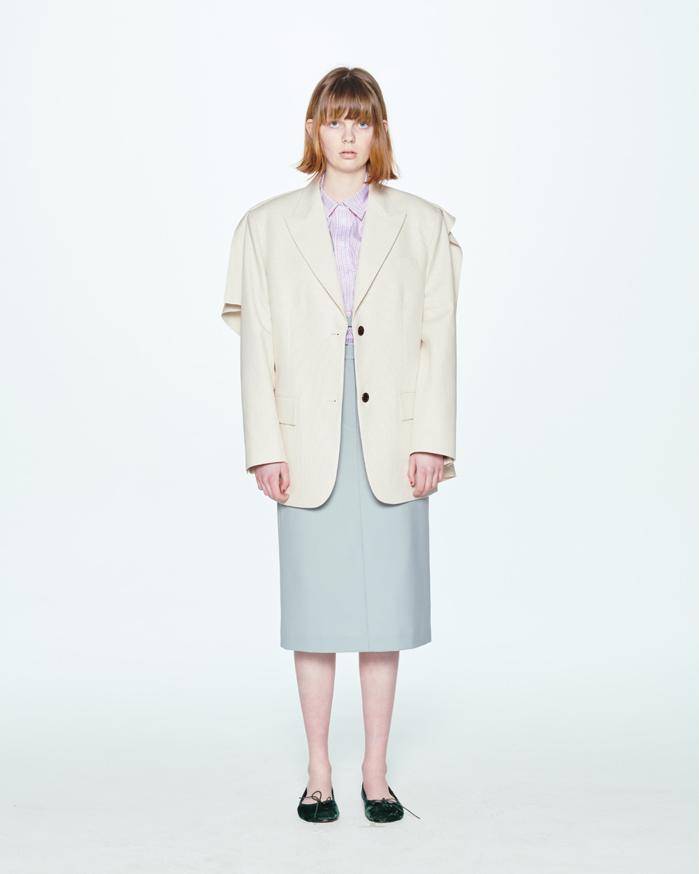 SS20 BACK SQUARE STRIPE JACKET