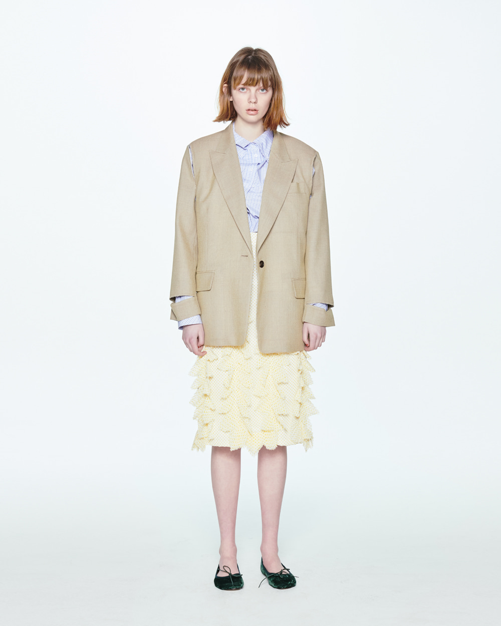 SS20 CUTOUT SINGLE BEIGE JACKET