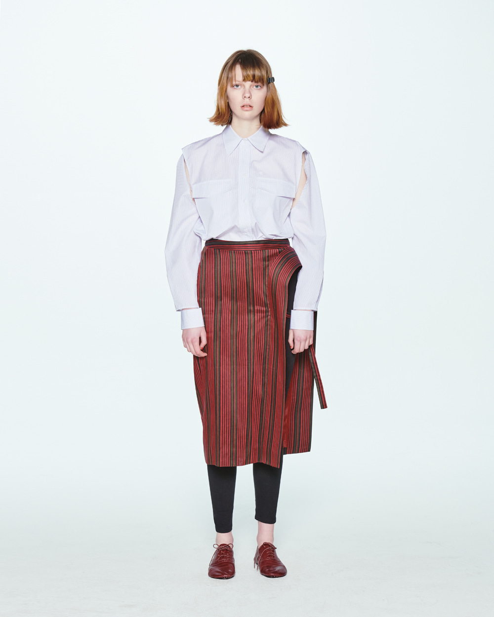 SS20 CUTOUT STRIPE SHIRT