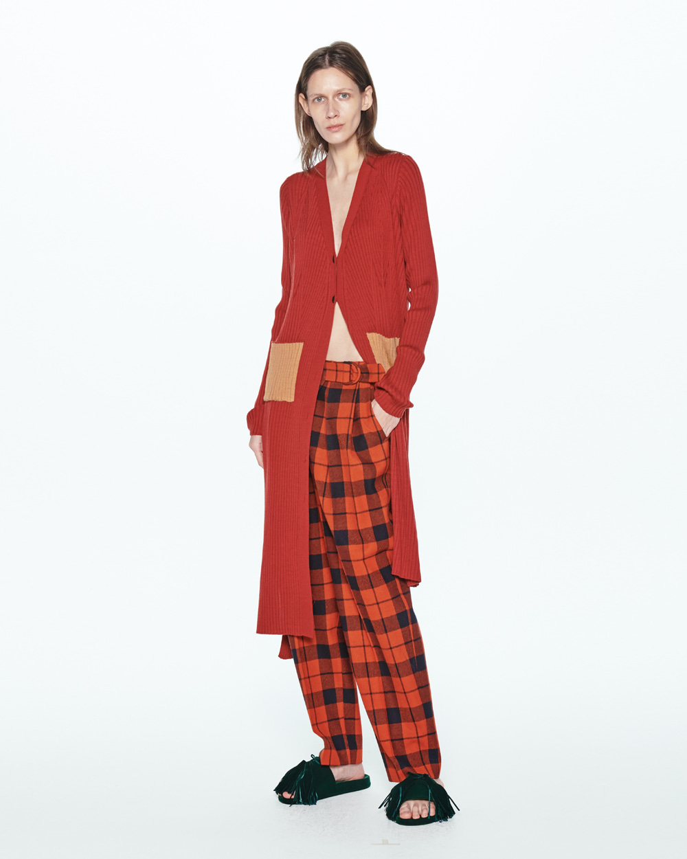 PF20 FRONT WRAP-OVER CHECK PANTS