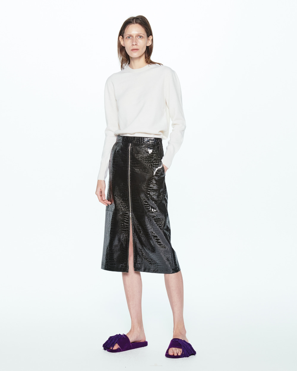 PF20 ZIPUP STRAIGHT SKIRT