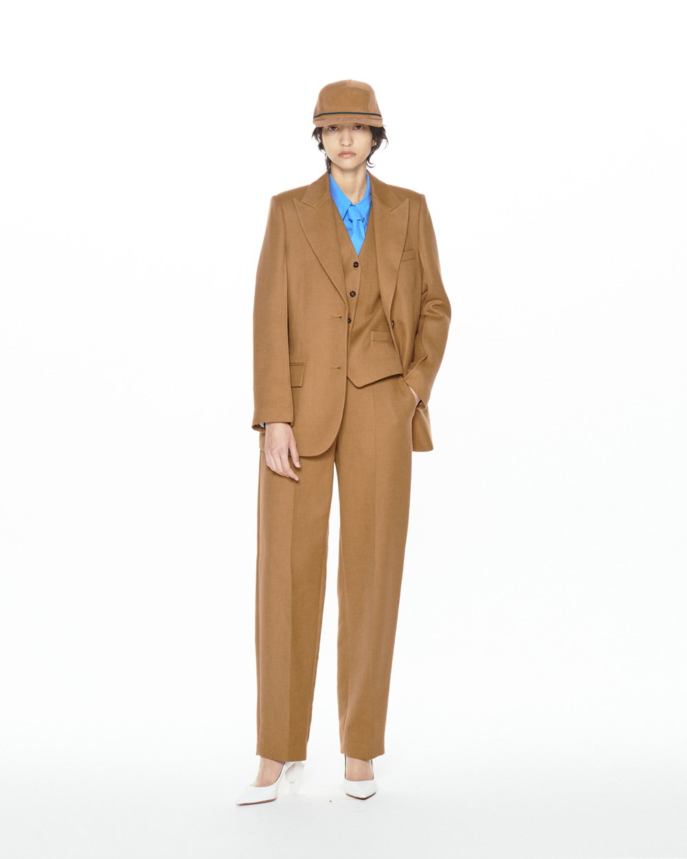 FW20 STANDARD TAILORED BROWN TROUSERS