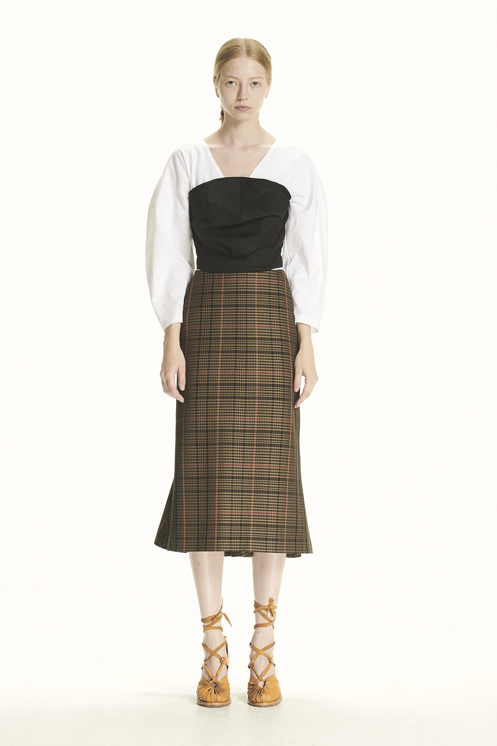PS21 MERMAID MIDI CHECK SKIRT