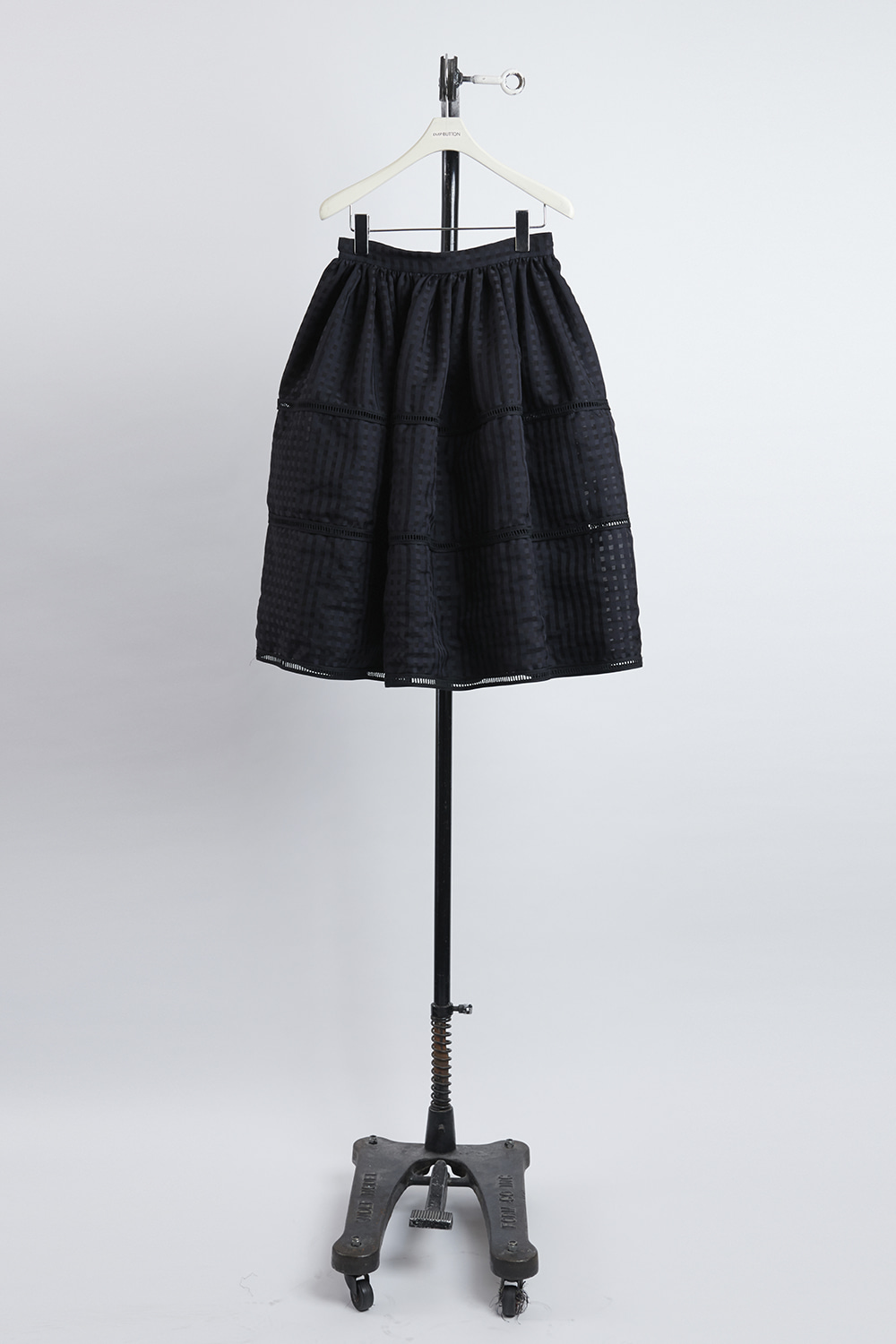 HS21 BLACK SEE-THROUGH SKIRT