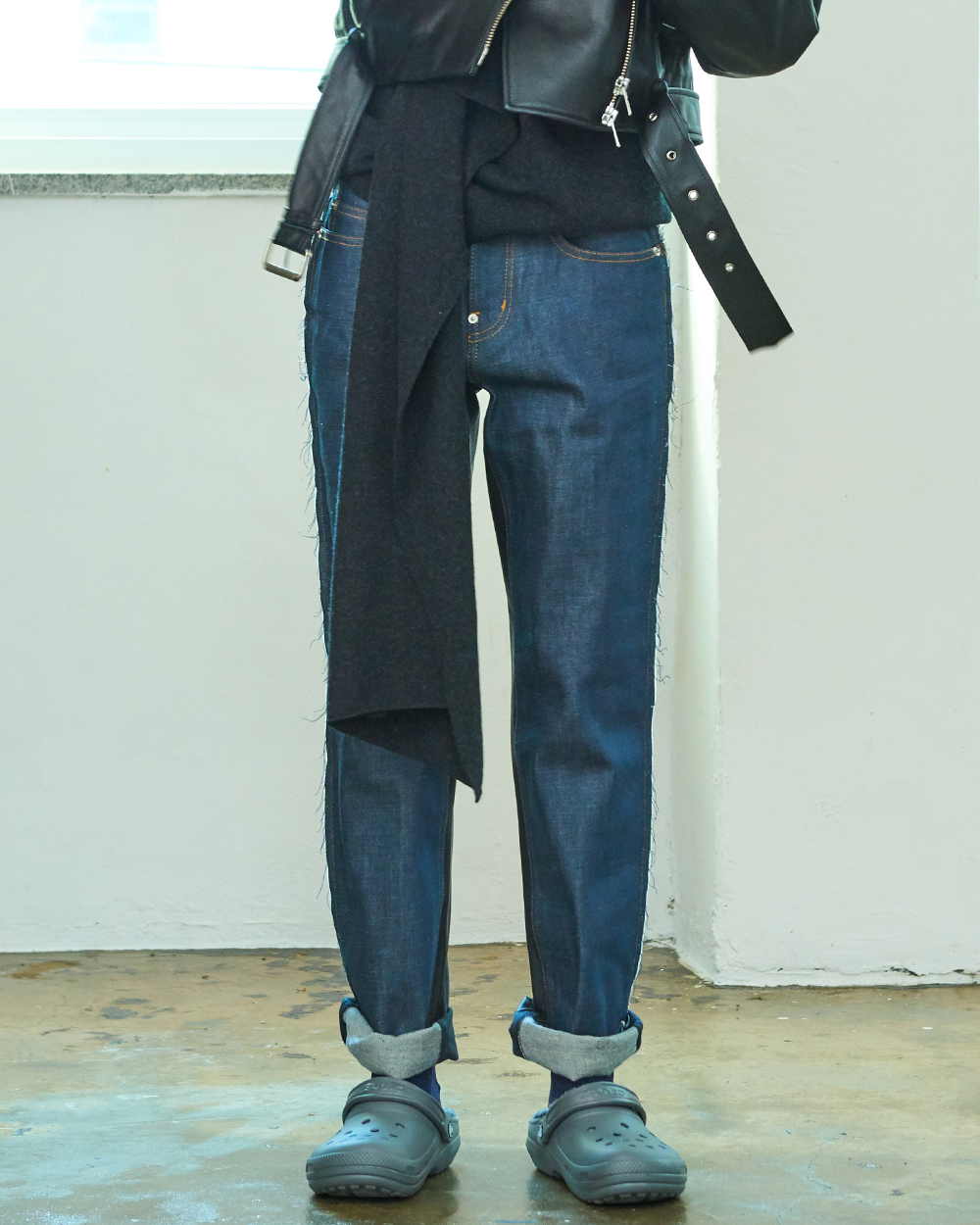 INDIGO DENIM COMBI TROUSERS
