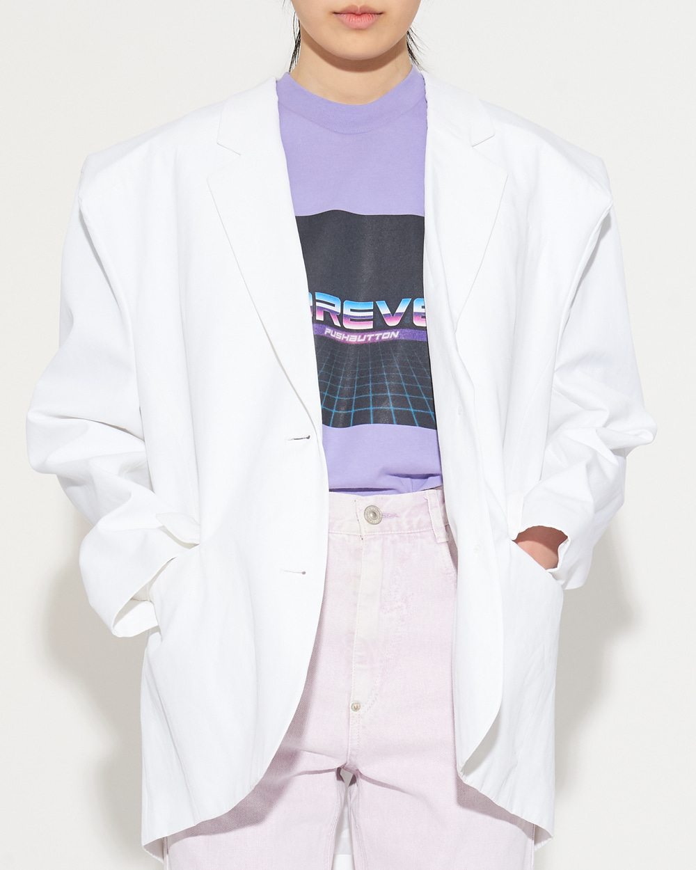 SS19 BOX SHOULDER JACKET