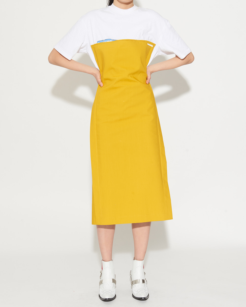 WIRED TUBE YELLOW DRESS