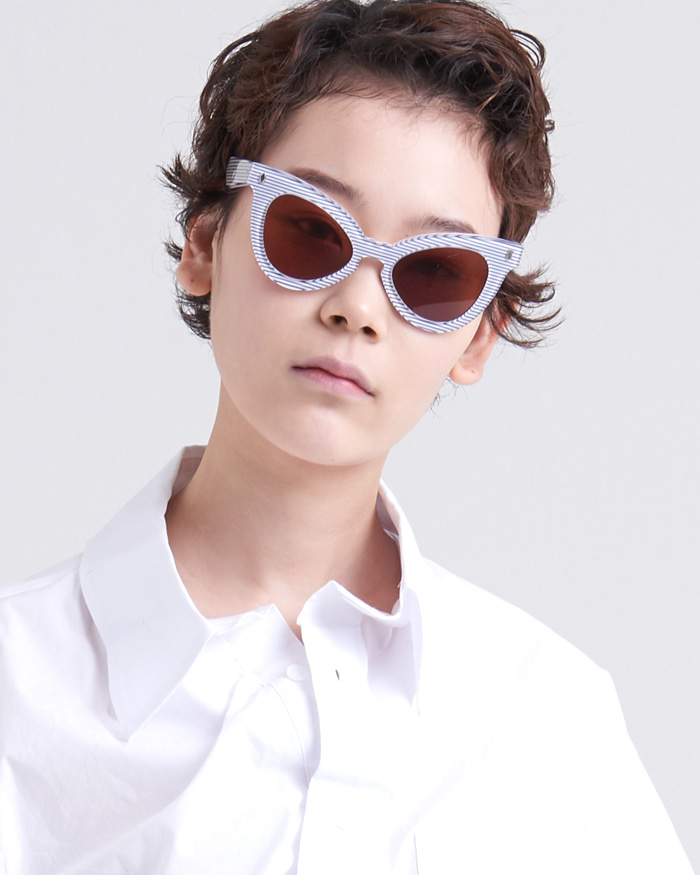 STRIPE POINT SUNGLASSES