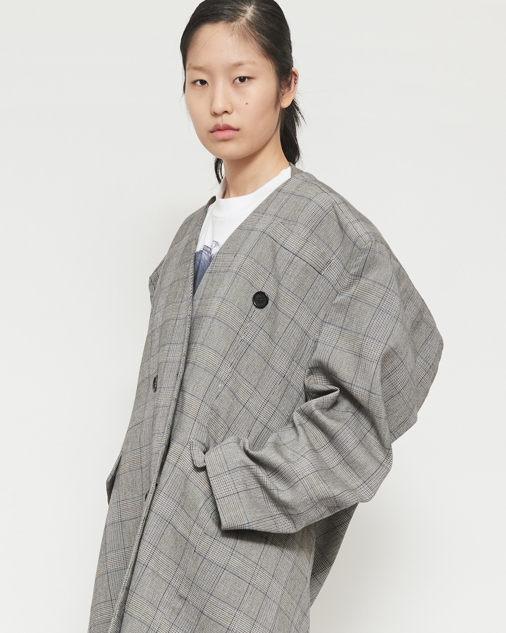 SS19 BOX SHOULDER COAT