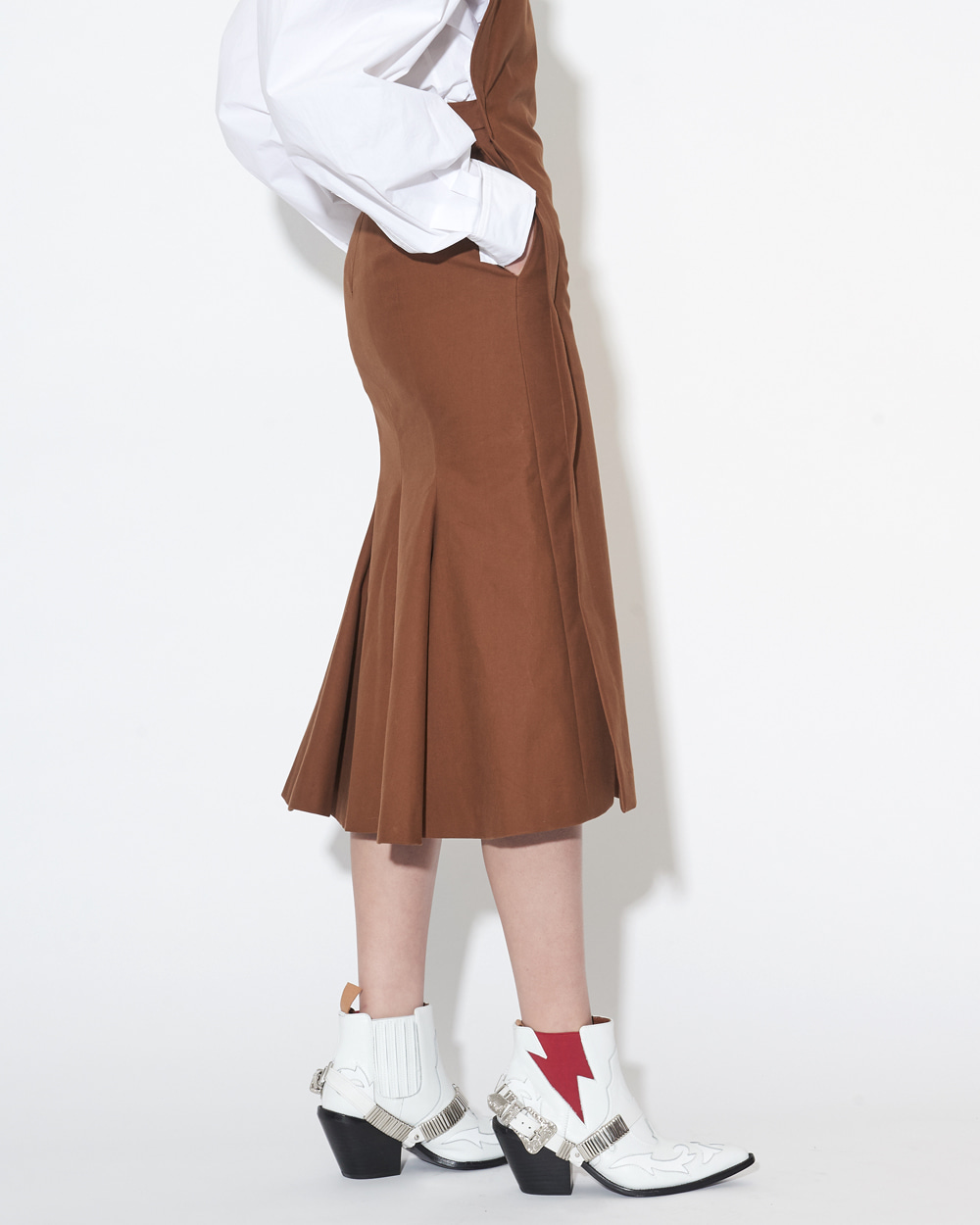 WIRED TUBE BROWN DRESS