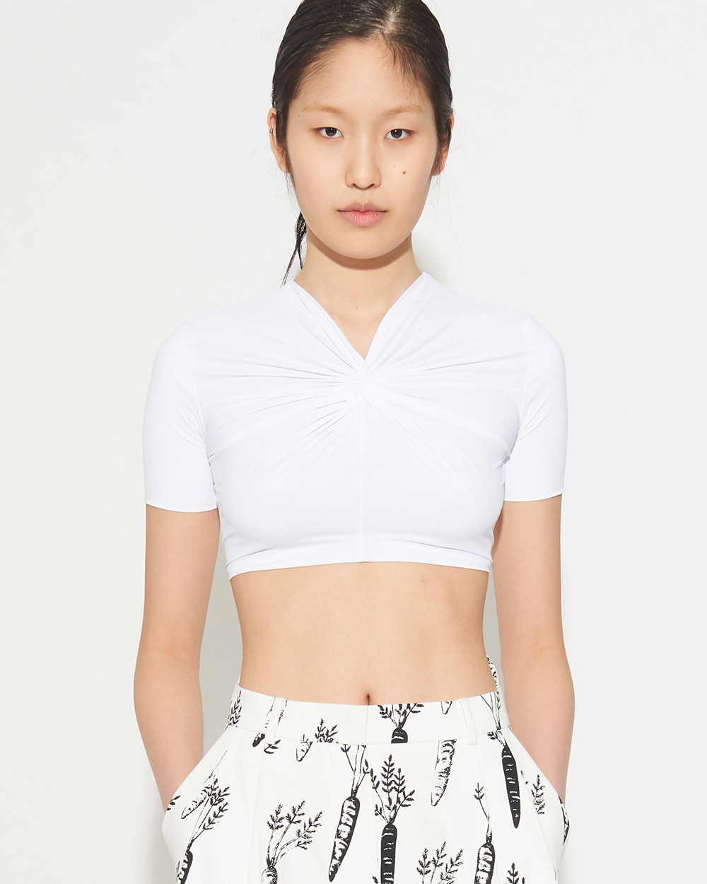 FITTED TWIST MINI TOP