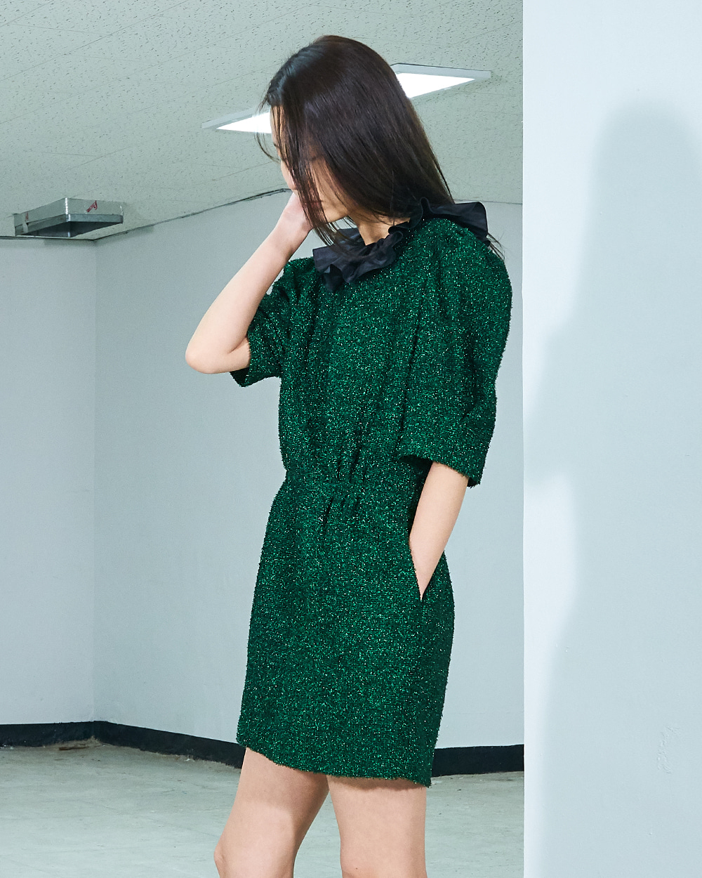 PF19 PUFF SLEEVED MINI BELL DRESS