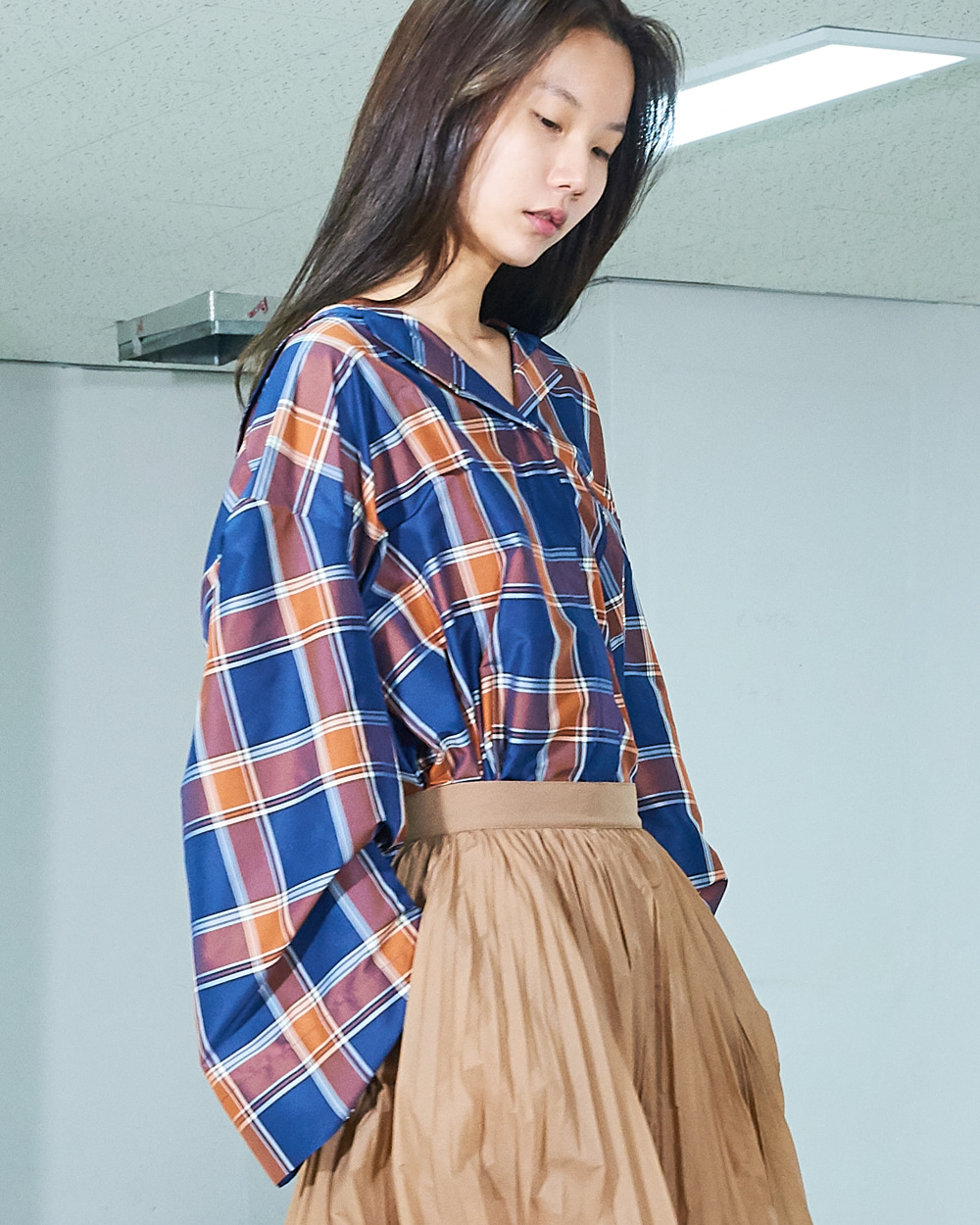CHECK SAILOR OVER FIT SHIRT