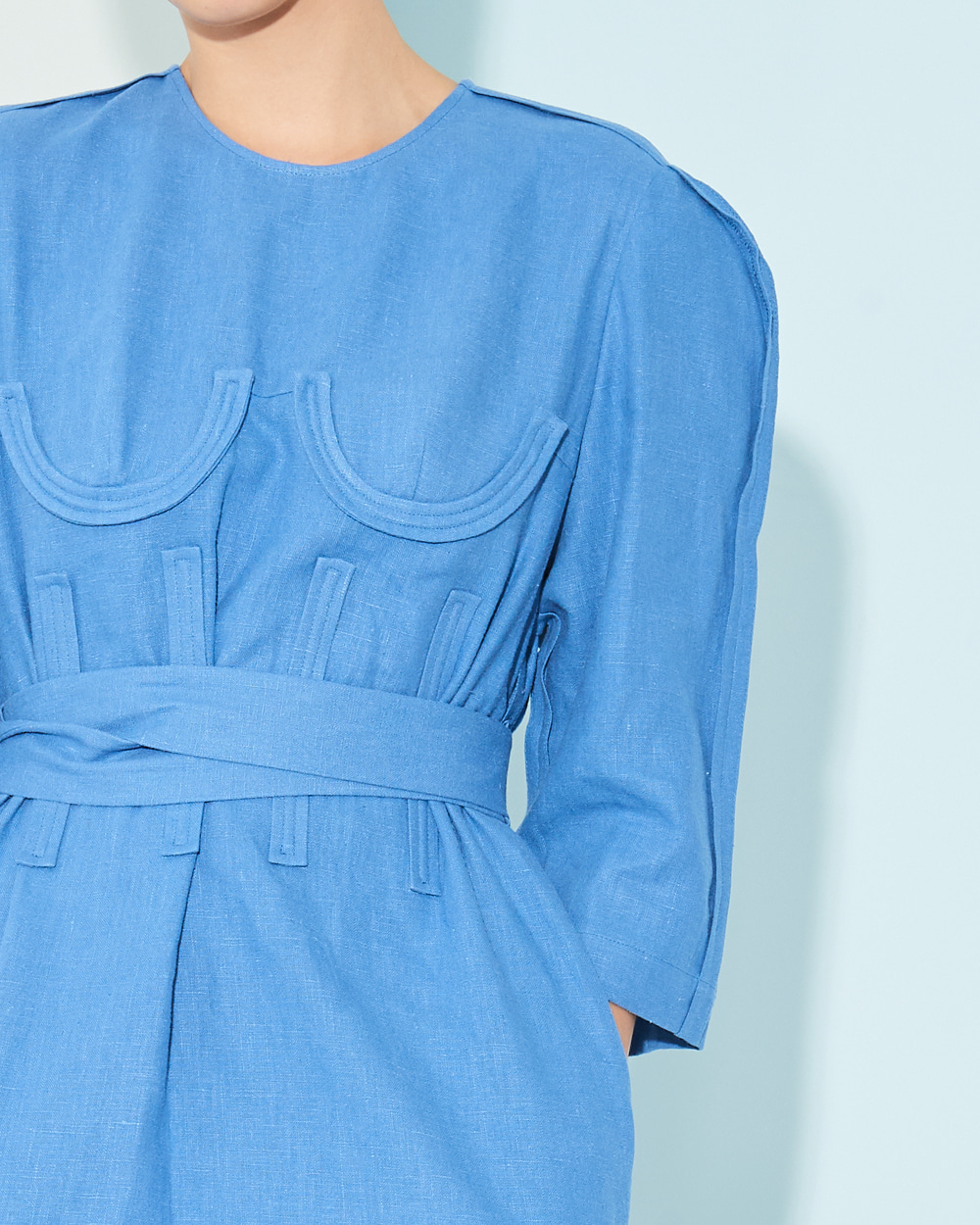BRA POINT LINEN DRESS