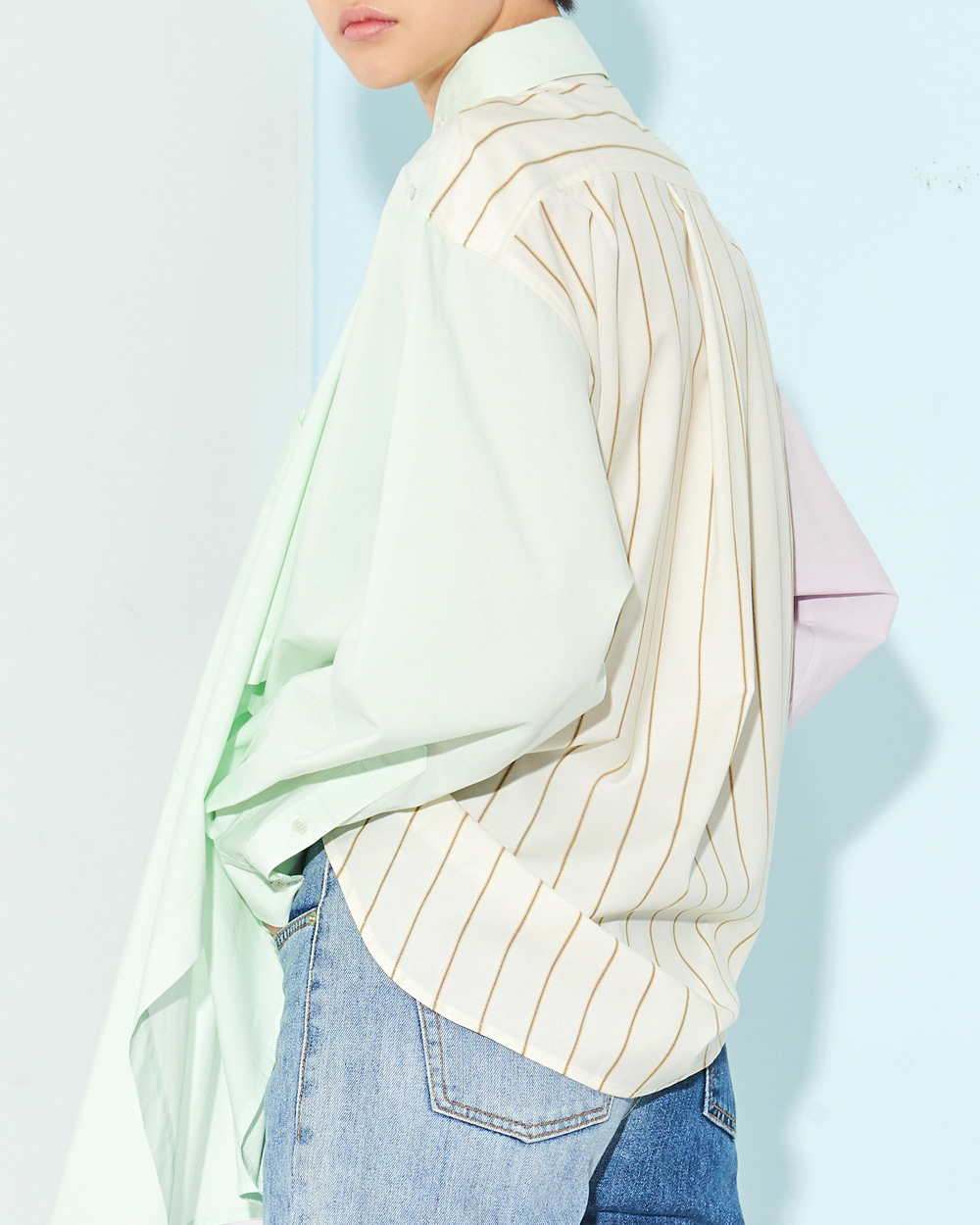 PF19 COLOR BLOCK TWO-WAY SHIRT