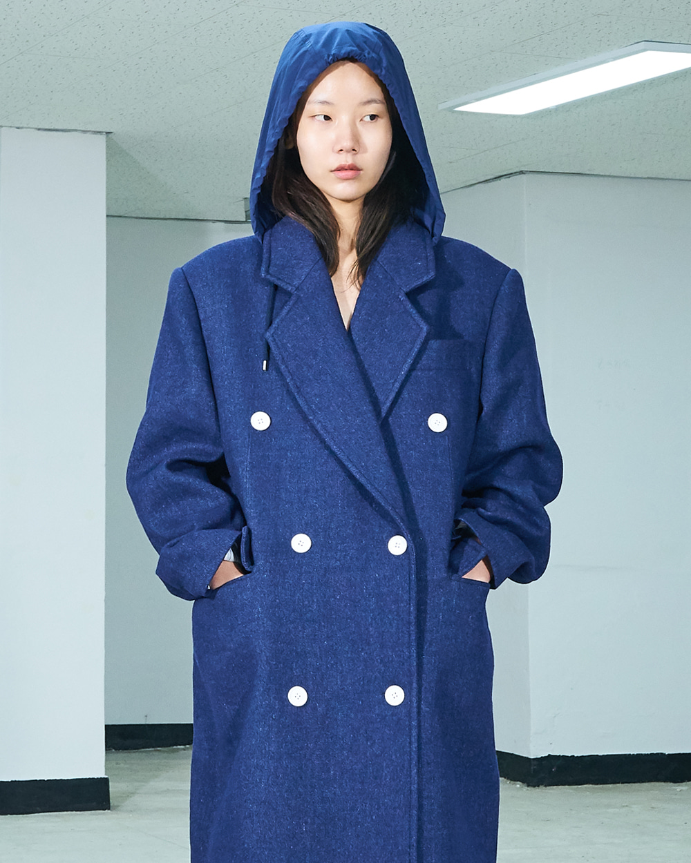 PF19 HOODY DOUBLE COAT