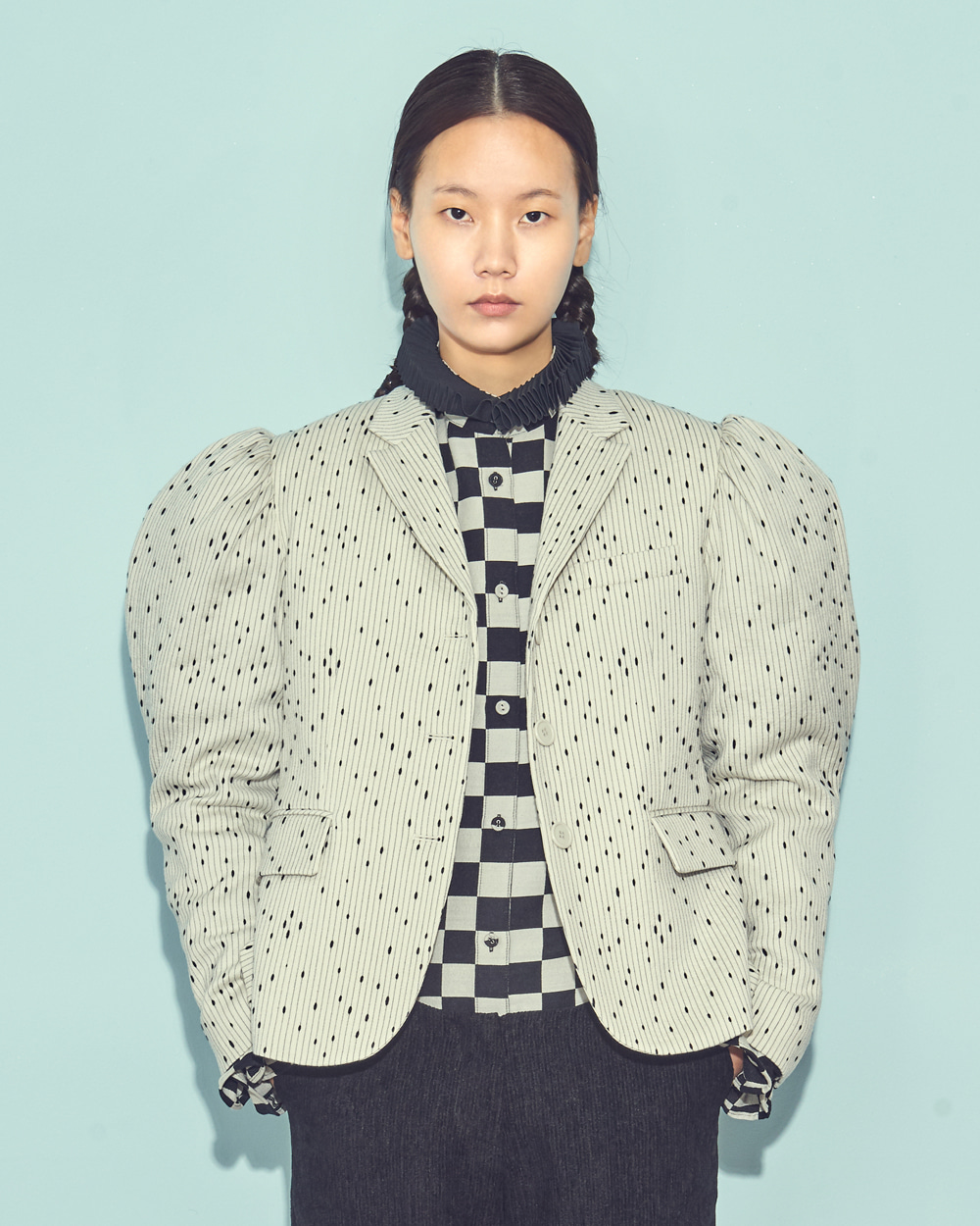 FW19 PUFF SLEEVE MINI JACKET
