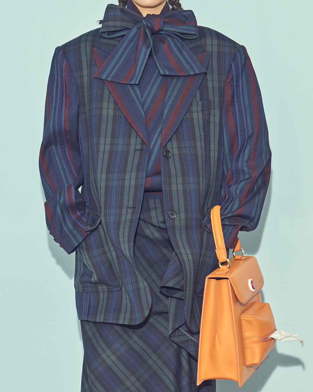 FW19 UNIQUE BINDING WOOL CHECK JACKET