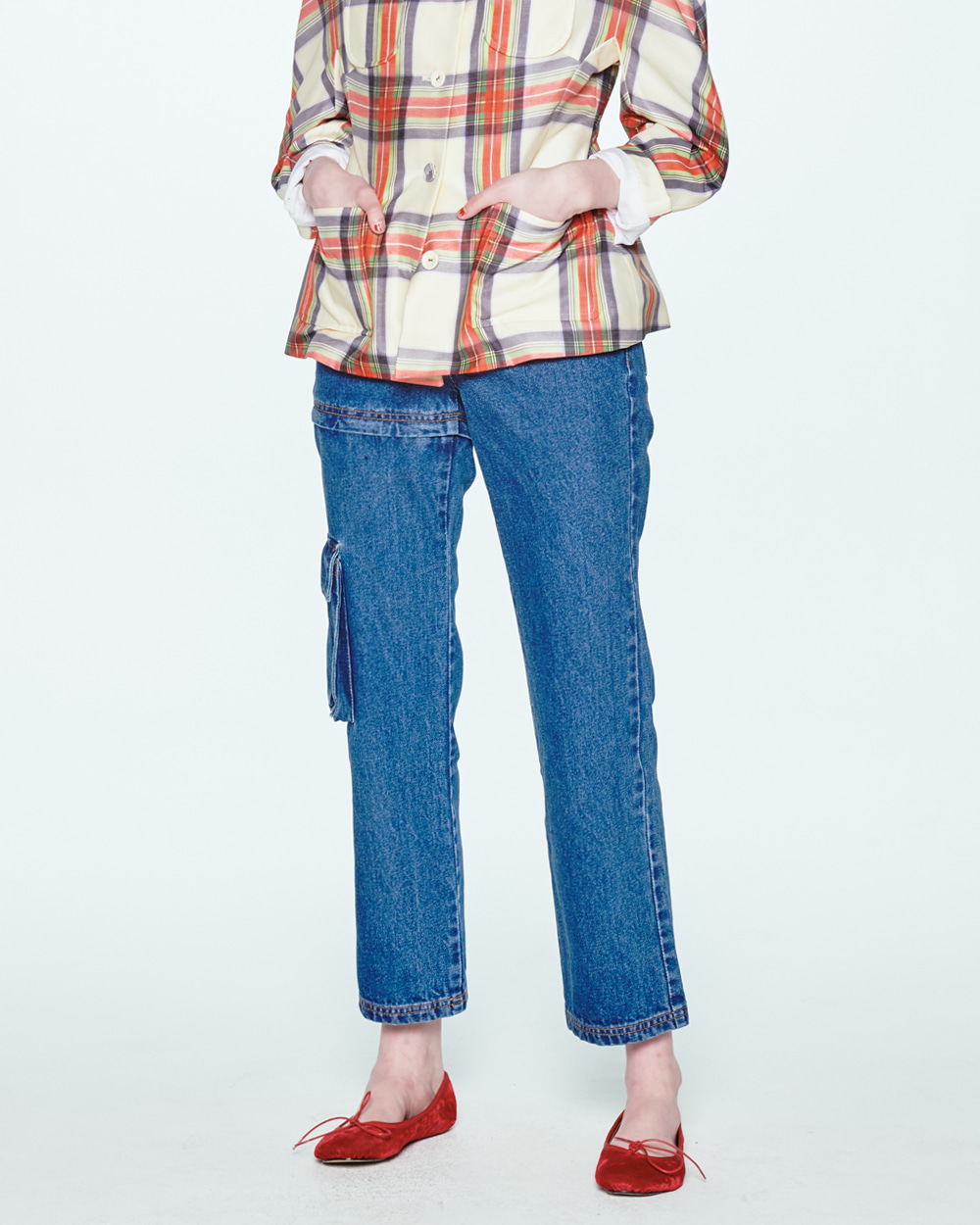 SS20 TRANSFORMER TWO-WAY BLUE JEANS