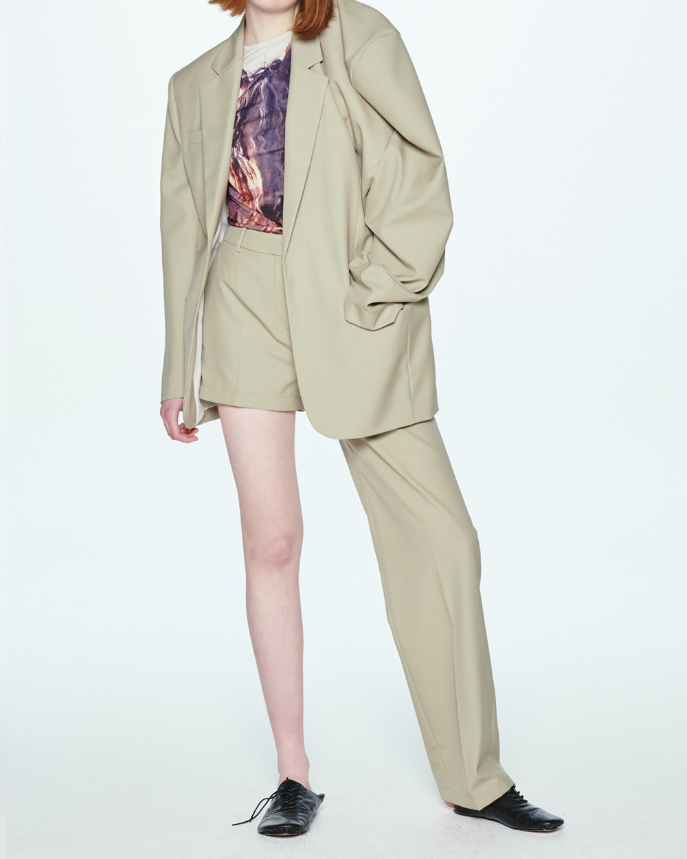 SS20 TRANSFORMER TWO-WAY KHAKI PANTS