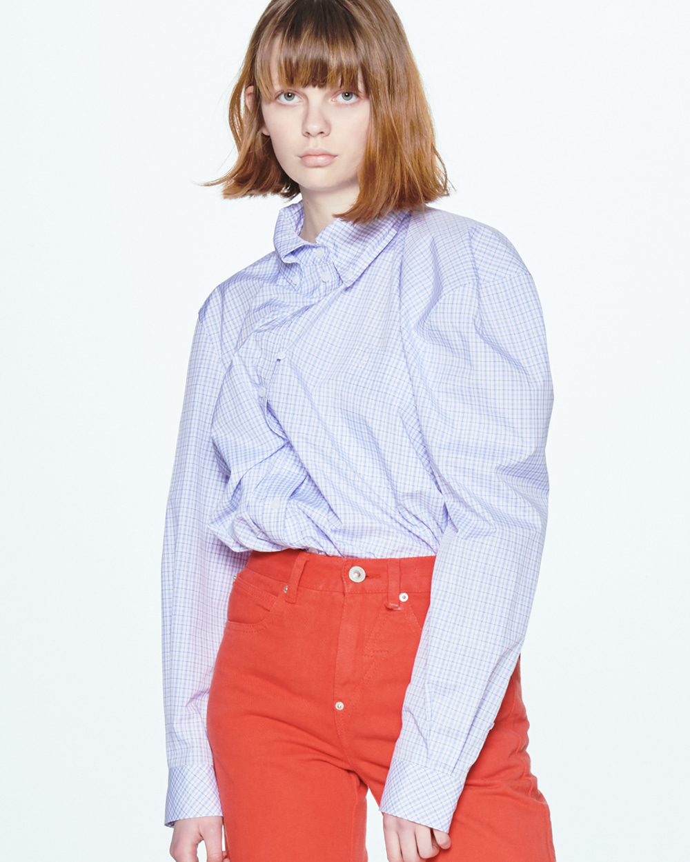 SS20 UNBLANCE SHOULDER CHECK SHIRT