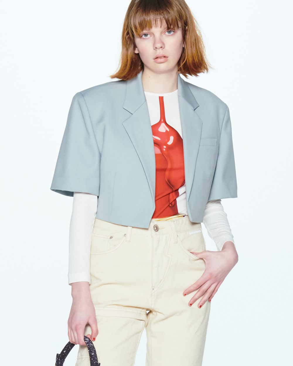 SHORT SLEEVED CROP JACKET