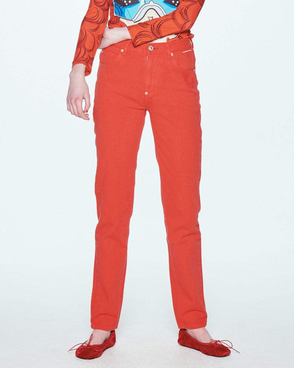 SS20 [공효진 착용] STRAIGHT RED JEANS