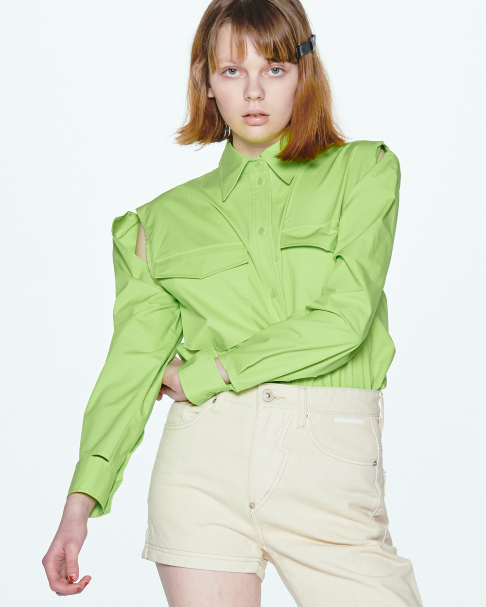 CUTOUT LIME SHIRT