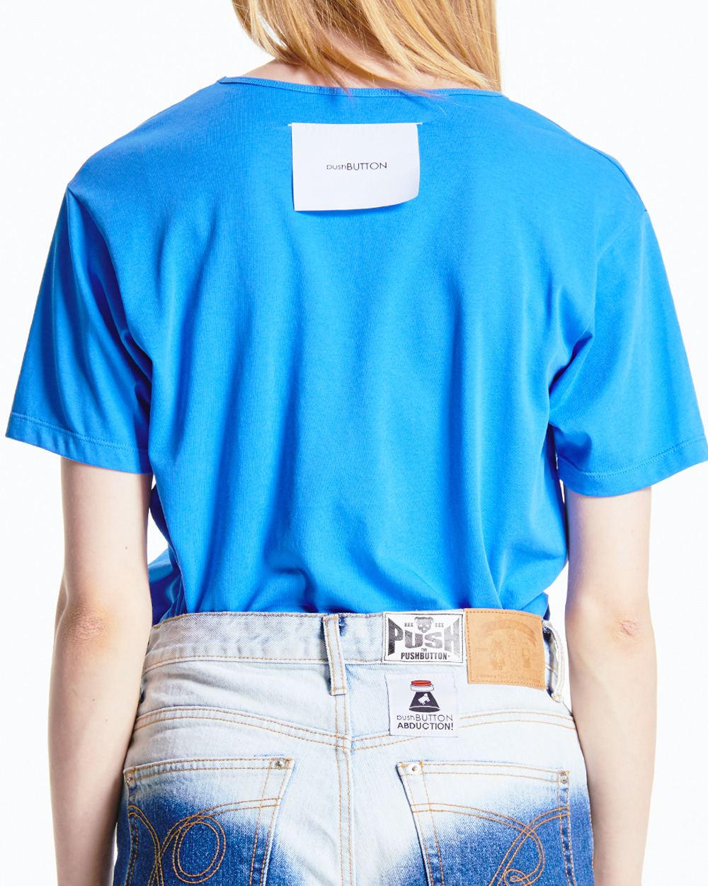 BACK LABEL BLUE T-SHIRT