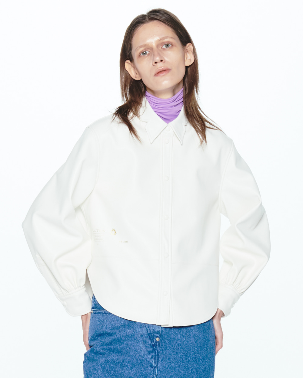 PF20 WHITE LEATHER SHIRT
