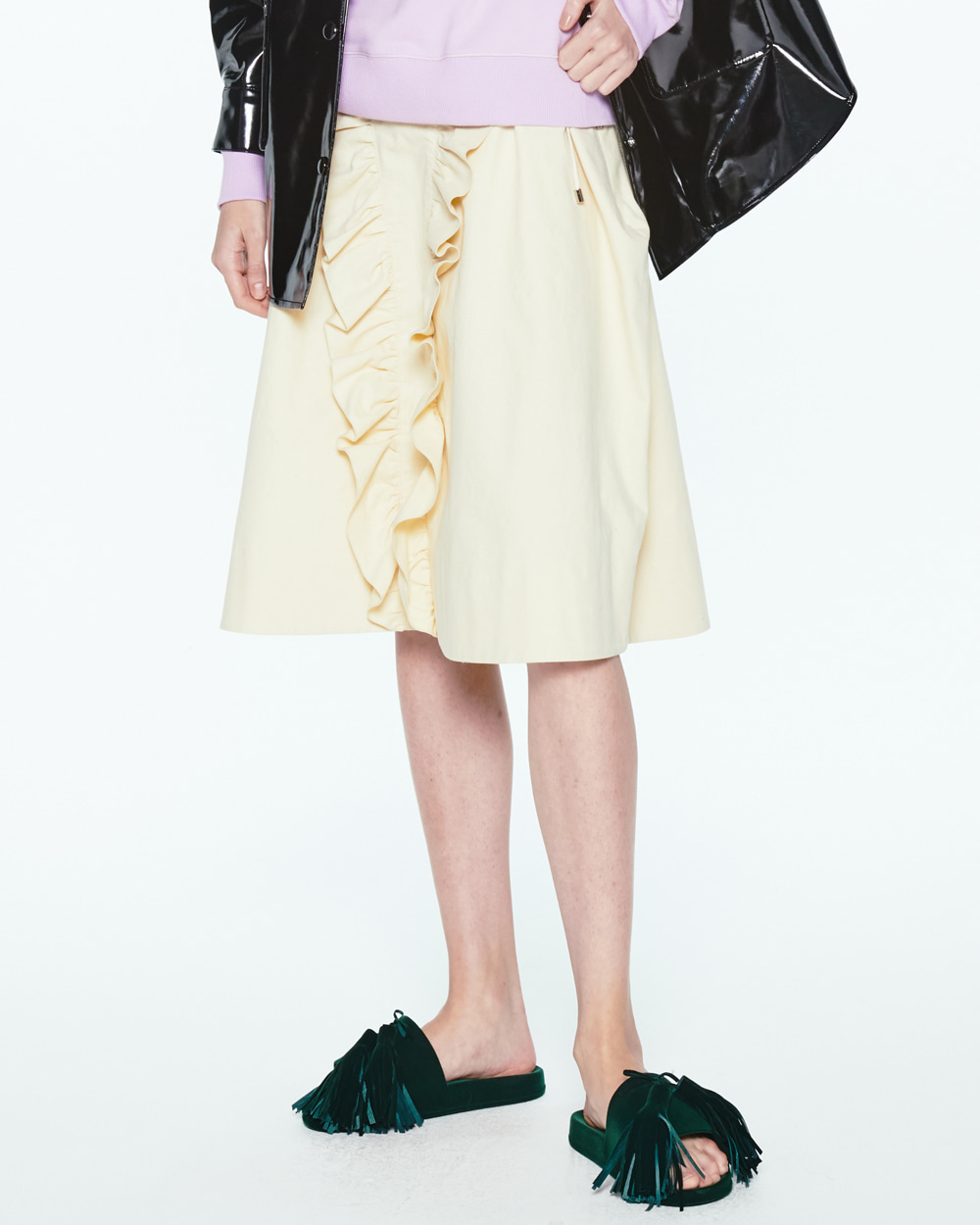 PF20 RUFFLED BALLOON SKIRT