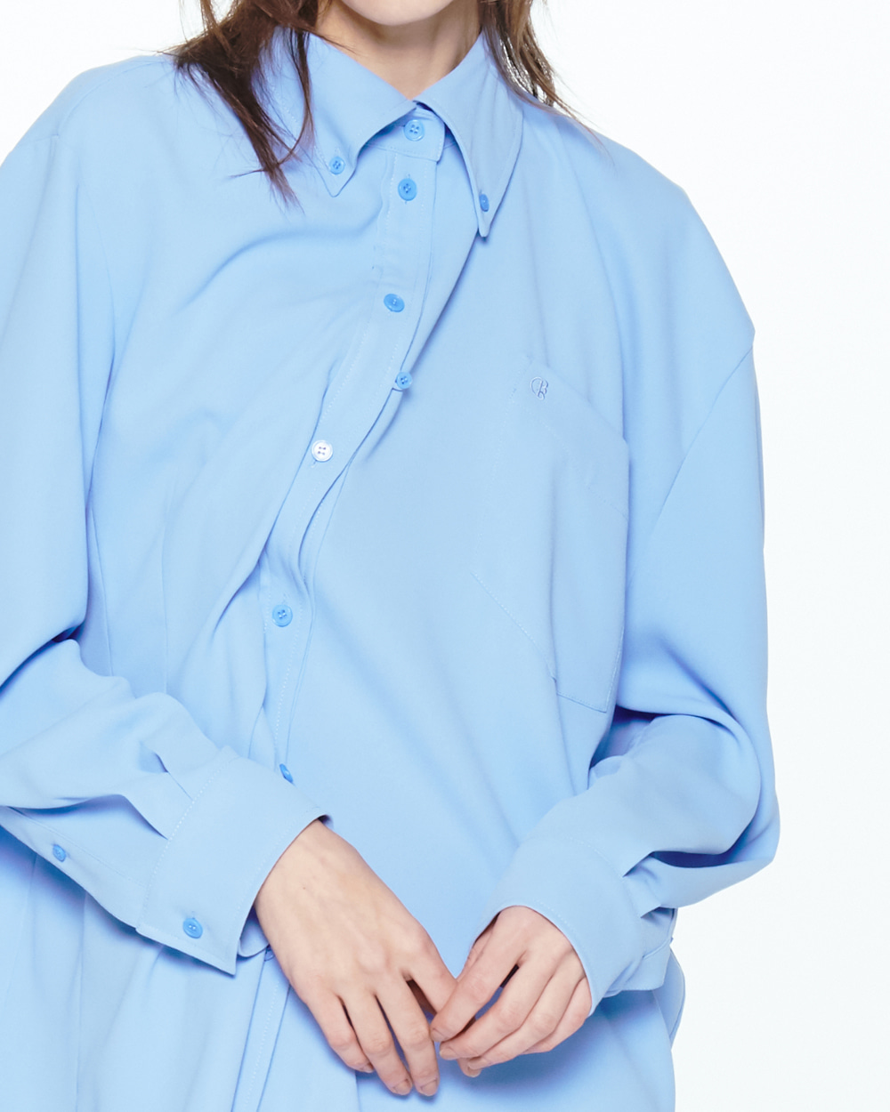 PF20 ASYMMETRIC SHIRT DRESS